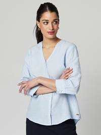 Lucia Linbluse 7246592_EN3-JEANPAULFEMME-H21-Modell-front_56540_Lucia Linbluse EN3_Lucia Linbluse EN3 7246592.jpg_Front||Front