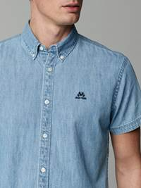 Indigo Chambray Skjorte - Regular Fit 7245752_ECN-JEANPAUL-H21-details_6714_Indigo Chambray Skjorte - Regular Fit ECN.jpg_