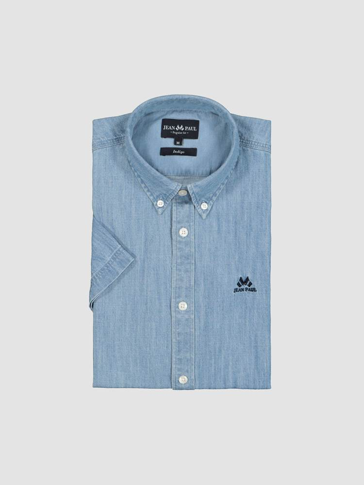 Indigo Chambray Skjorte - Regular Fit 7245752_ECN-JEANPAUL-H21-front_7046_Indigo Chambray Shirt_Indigo Chambray Skjorte - Regular Fit ECN.jpg_Front||Front