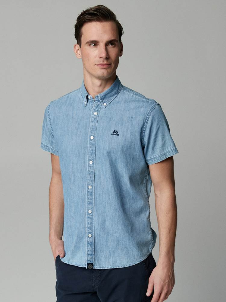Indigo Chambray Skjorte - Regular Fit