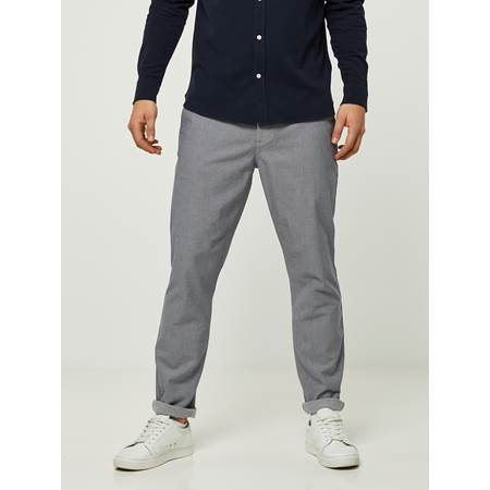 SLIM GREY MELANGE STRETCH CHINO