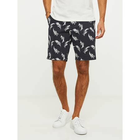 LEAVES PRINTET SHORTS
