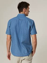 Noah Indigo Skjorte - Regular Fit 7243283_EN3-JEANPAUL-H20-Modell-back_31371_Noah Indigo Skjorte - Regular Fit EN3.jpg_Back||Back