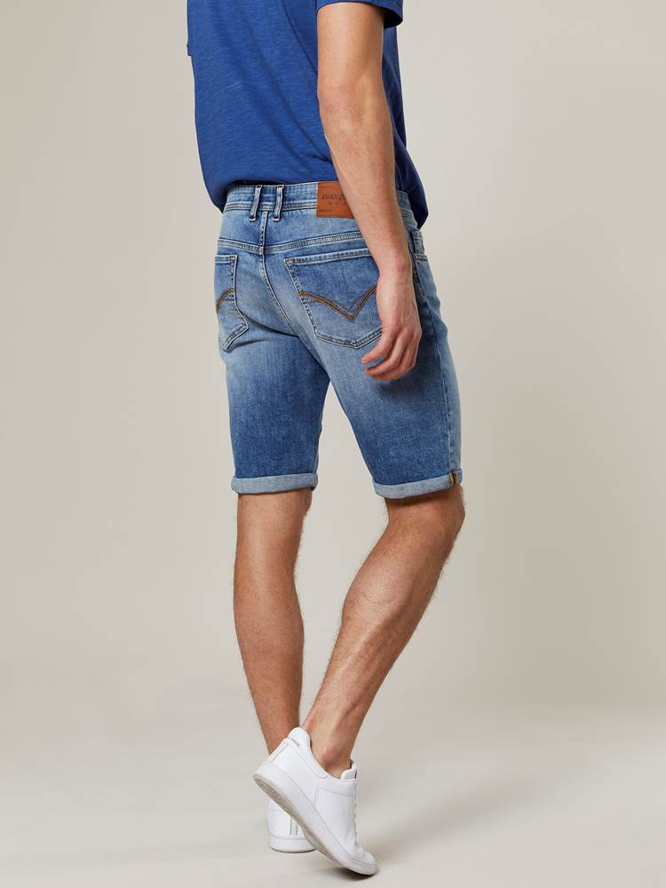 Leroy Denim Stretch Bermuda 7243009_DAD-JEANPAUL-H20-Modell-back_76891_Leroy Denim Stretch Bermuda DAD.jpg_Back||Back