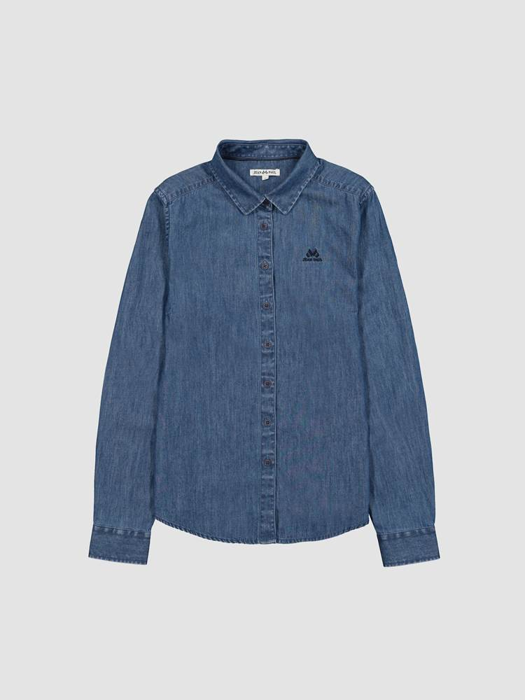 Basic Denim Skjorte 7244162_D03-JEANPAULFEMME-A20-front_64493_Basic Denim Shirt_Basic Denim Skjorte D03.jpg_Front||Front