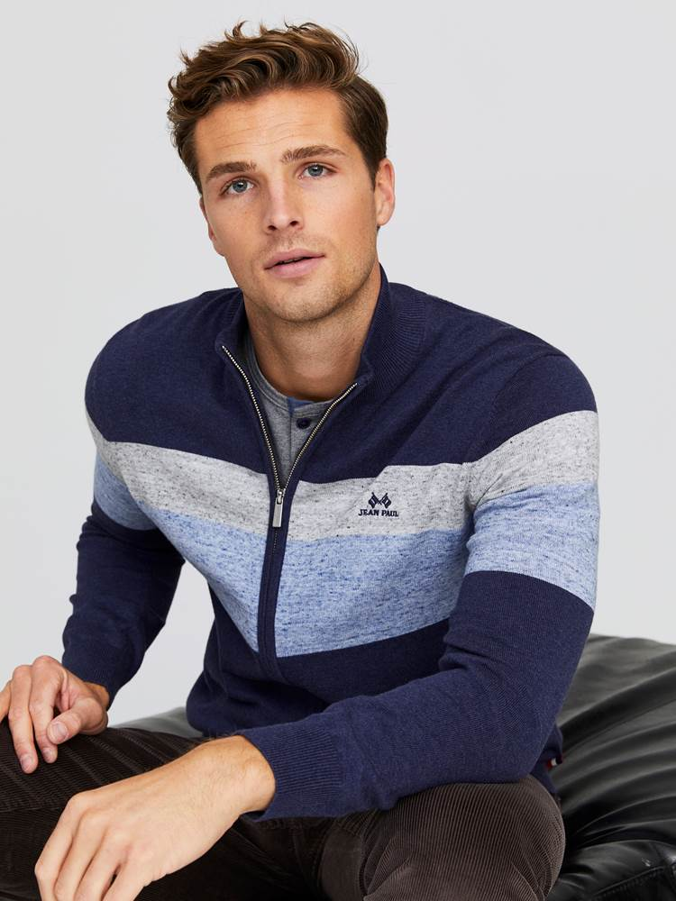 Gerard Stripet Zip Cardigan