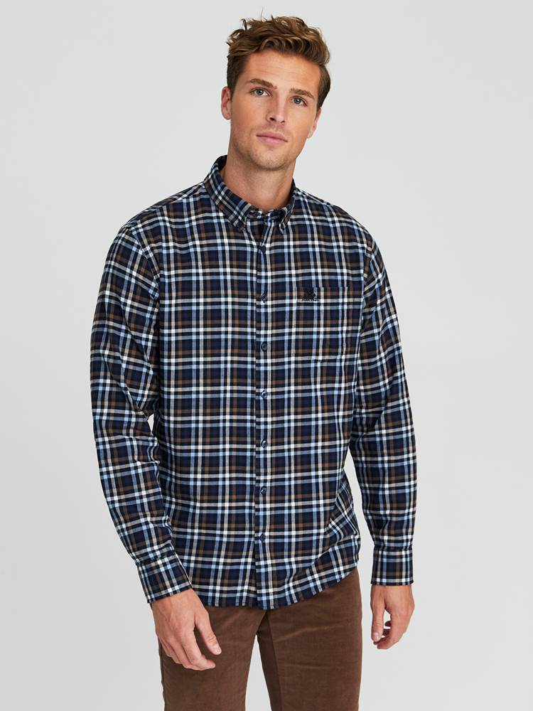 Kristof Flanell Skjorte - Classic Fit 7245186_ENB-JEANPAUL-W20-Modell-front_52589_Kristof Flanell Skjorte- Classic fit ENB_Kristof Flanell Skjorte - Classic Fit ENB.jpg_Front||Front
